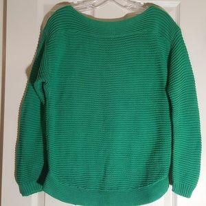 Women's Ralph Lauren Kelly Green Boat Neck Sweater
